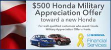 New Honda Incentives